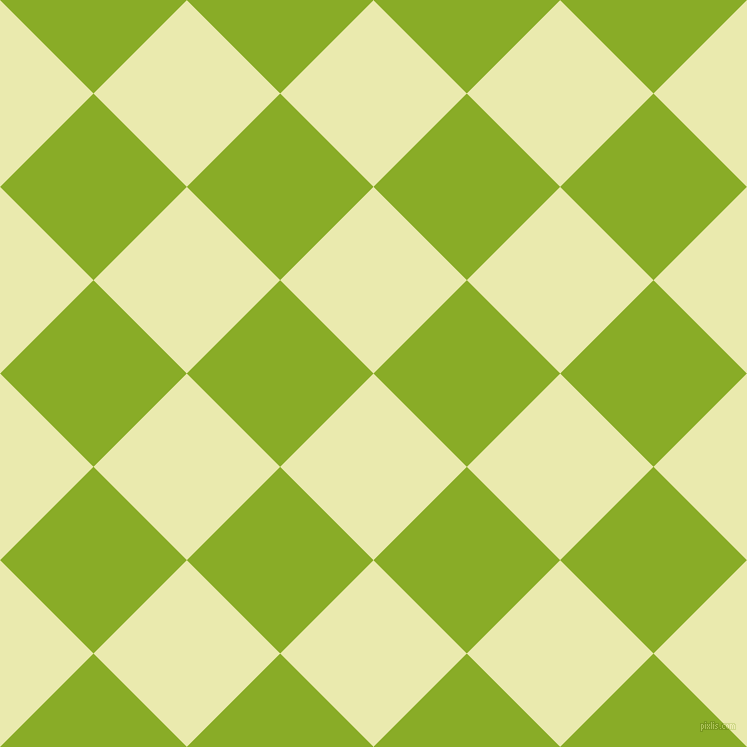 45/135 degree angle diagonal checkered chequered squares checker pattern checkers background, 132 pixel square size, , Medium Goldenrod and Limerick checkers chequered checkered squares seamless tileable