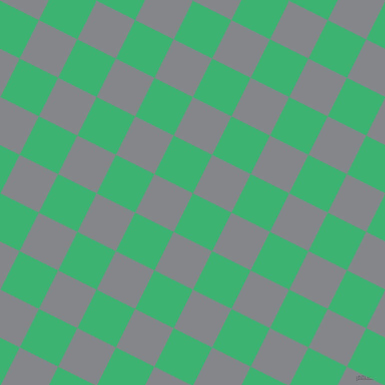 63/153 degree angle diagonal checkered chequered squares checker pattern checkers background, 86 pixel squares size, , Medium Sea Green and Aluminium checkers chequered checkered squares seamless tileable