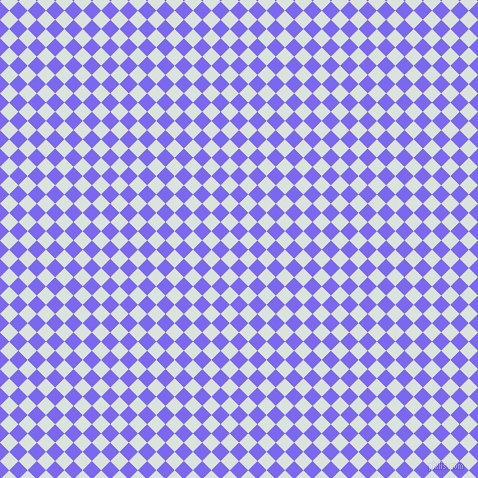 45/135 degree angle diagonal checkered chequered squares checker pattern checkers background, 13 pixel squares size, , Medium Slate Blue and Aqua Squeeze checkers chequered checkered squares seamless tileable
