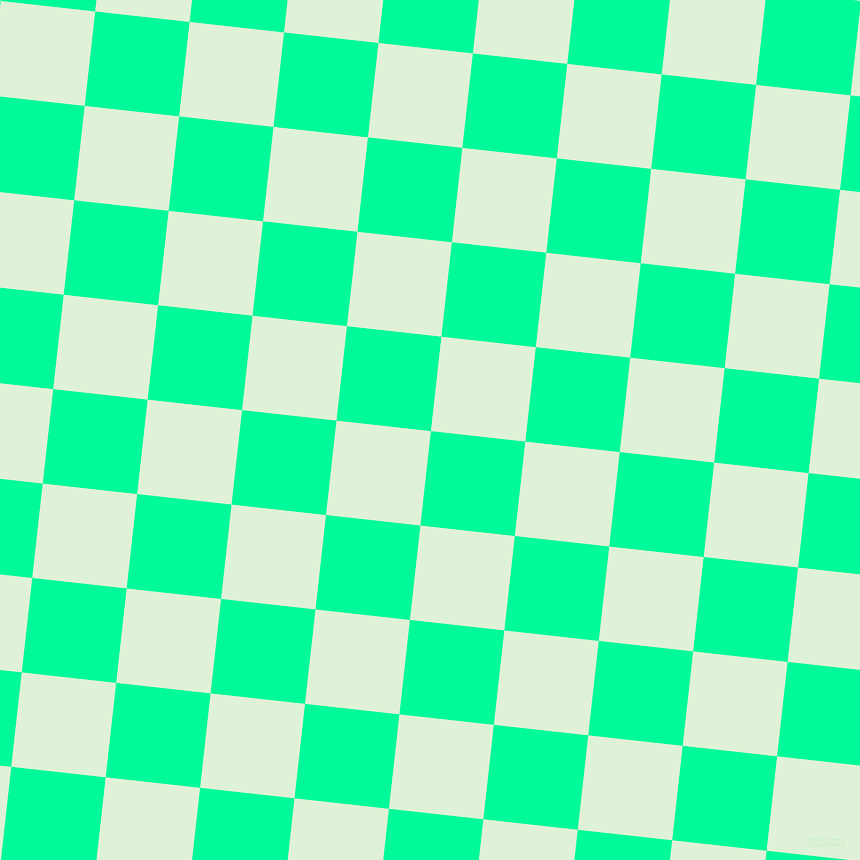 84/174 degree angle diagonal checkered chequered squares checker pattern checkers background, 95 pixel square size, , Medium Spring Green and Hint Of Green checkers chequered checkered squares seamless tileable