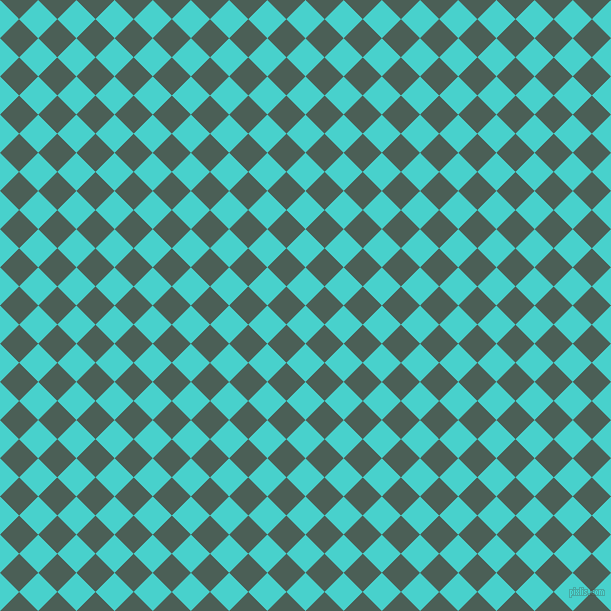 45/135 degree angle diagonal checkered chequered squares checker pattern checkers background, 27 pixel square size, , Medium Turquoise and Viridian Green checkers chequered checkered squares seamless tileable