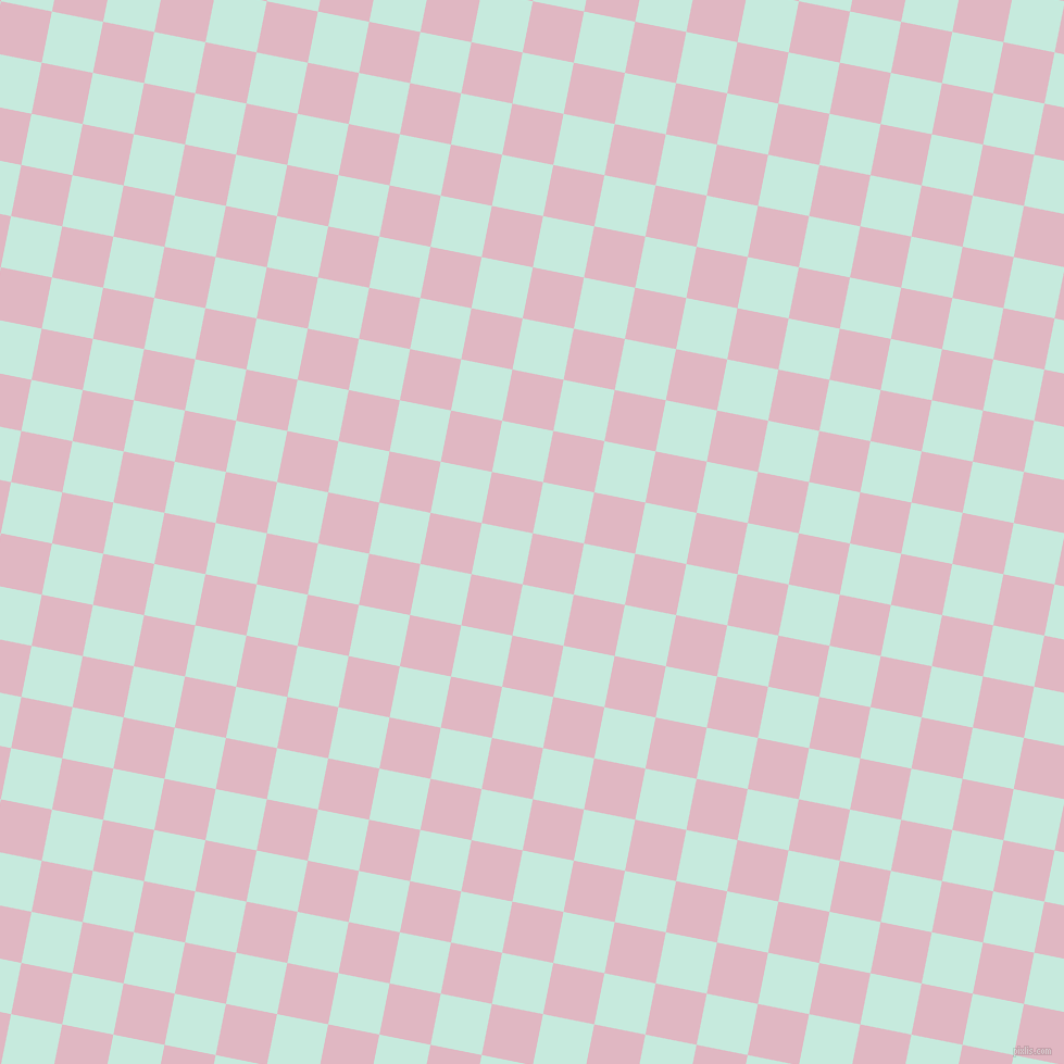 79/169 degree angle diagonal checkered chequered squares checker pattern checkers background, 48 pixel squares size, , Melanie and Mint Tulip checkers chequered checkered squares seamless tileable