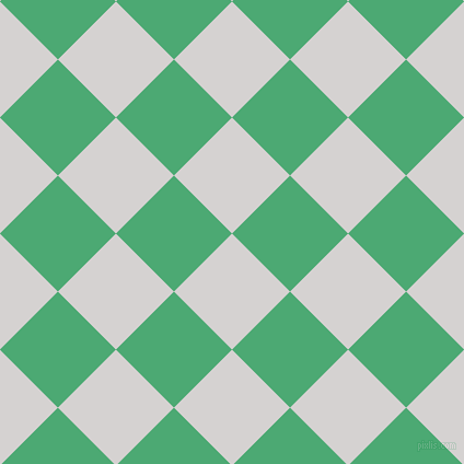 45/135 degree angle diagonal checkered chequered squares checker pattern checkers background, 75 pixel square size, , Mercury and Ocean Green checkers chequered checkered squares seamless tileable