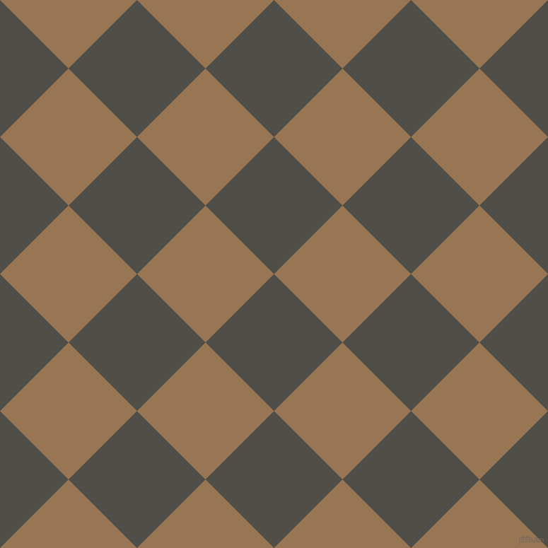 45/135 degree angle diagonal checkered chequered squares checker pattern checkers background, 137 pixel squares size, , Merlin and Pale Brown checkers chequered checkered squares seamless tileable