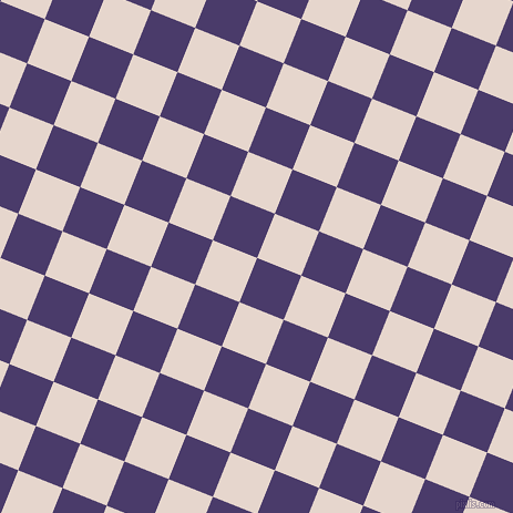 68/158 degree angle diagonal checkered chequered squares checker pattern checkers background, 43 pixel square size, , Meteorite and Dawn Pink checkers chequered checkered squares seamless tileable