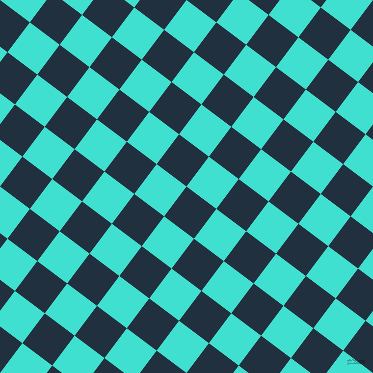 53/143 degree angle diagonal checkered chequered squares checker pattern checkers background, 76 pixel squares size, , Midnight and Turquoise checkers chequered checkered squares seamless tileable