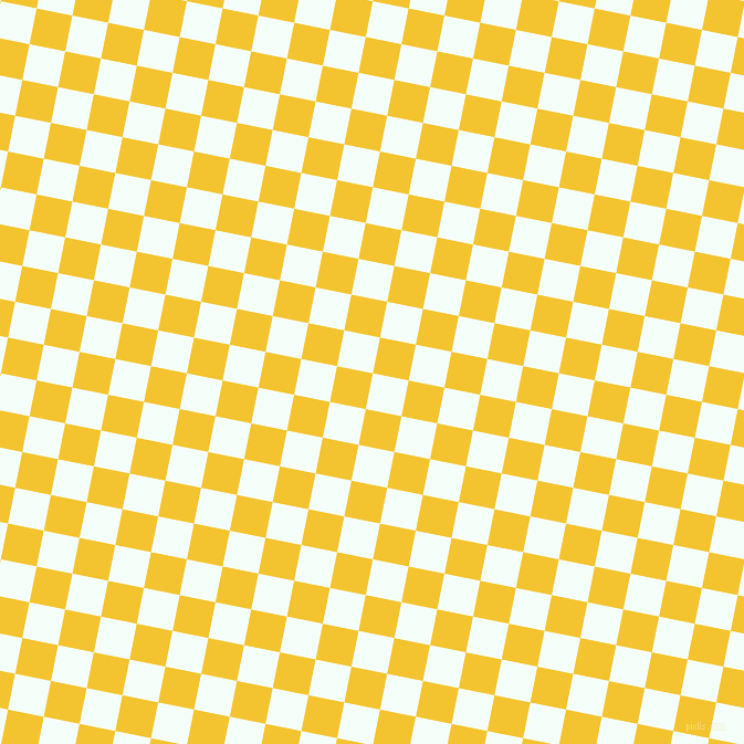 79/169 degree angle diagonal checkered chequered squares checker pattern checkers background, 33 pixel square size, , Mint Cream and Saffron checkers chequered checkered squares seamless tileable