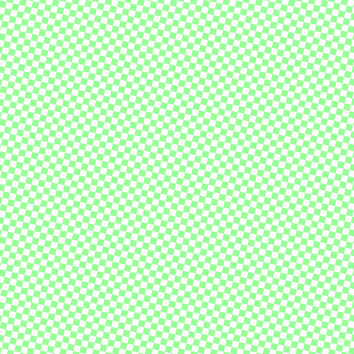 77/167 degree angle diagonal checkered chequered squares checker pattern checkers background, 13 pixel square size, , Mint Green and Snow checkers chequered checkered squares seamless tileable