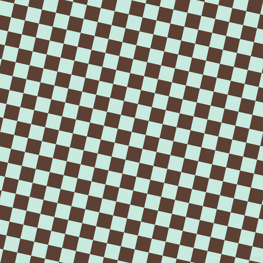 77/167 degree angle diagonal checkered chequered squares checker pattern checkers background, 48 pixel squares size, , Mint Tulip and Very Dark Brown checkers chequered checkered squares seamless tileable
