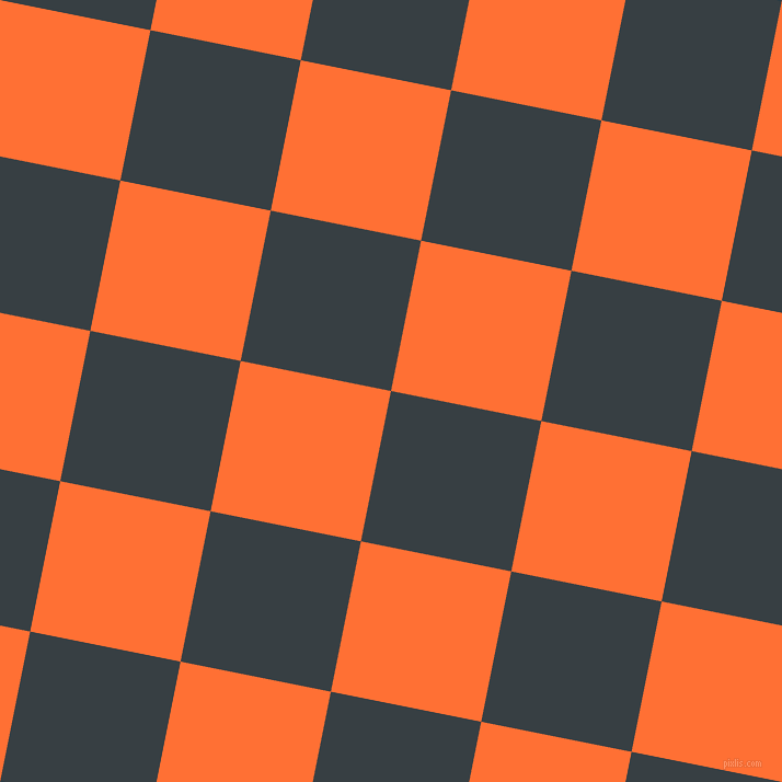 79/169 degree angle diagonal checkered chequered squares checker pattern checkers background, 140 pixel square size, , Mirage and Burnt Orange checkers chequered checkered squares seamless tileable