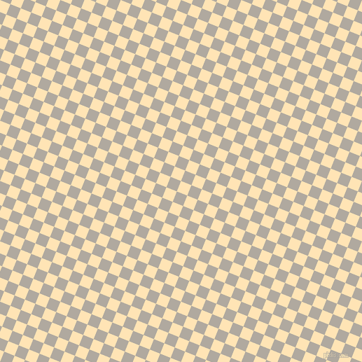 68/158 degree angle diagonal checkered chequered squares checker pattern checkers background, 16 pixel squares size, , Moccasin and Cloudy checkers chequered checkered squares seamless tileable