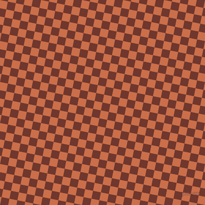 79/169 degree angle diagonal checkered chequered squares checker pattern checkers background, 16 pixel square size, Mocha and Red Damask checkers chequered checkered squares seamless tileable