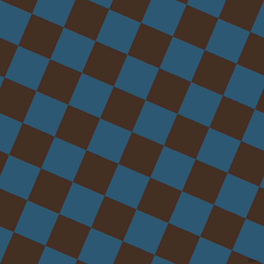67/157 degree angle diagonal checkered chequered squares checker pattern checkers background, 113 pixel square size, , Morocco Brown and Chathams Blue checkers chequered checkered squares seamless tileable