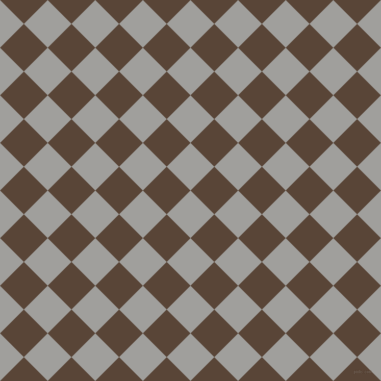 45/135 degree angle diagonal checkered chequered squares checker pattern checkers background, 66 pixel square size, , Mountain Mist and Brown Derby checkers chequered checkered squares seamless tileable