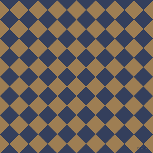 45/135 degree angle diagonal checkered chequered squares checker pattern checkers background, 45 pixel square size, , Muesli and Gulf Blue checkers chequered checkered squares seamless tileable