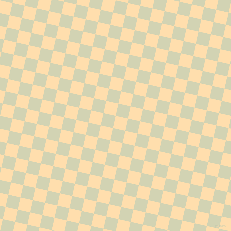 77/167 degree angle diagonal checkered chequered squares checker pattern checkers background, 44 pixel squares size, , Navajo White and Orinoco checkers chequered checkered squares seamless tileable