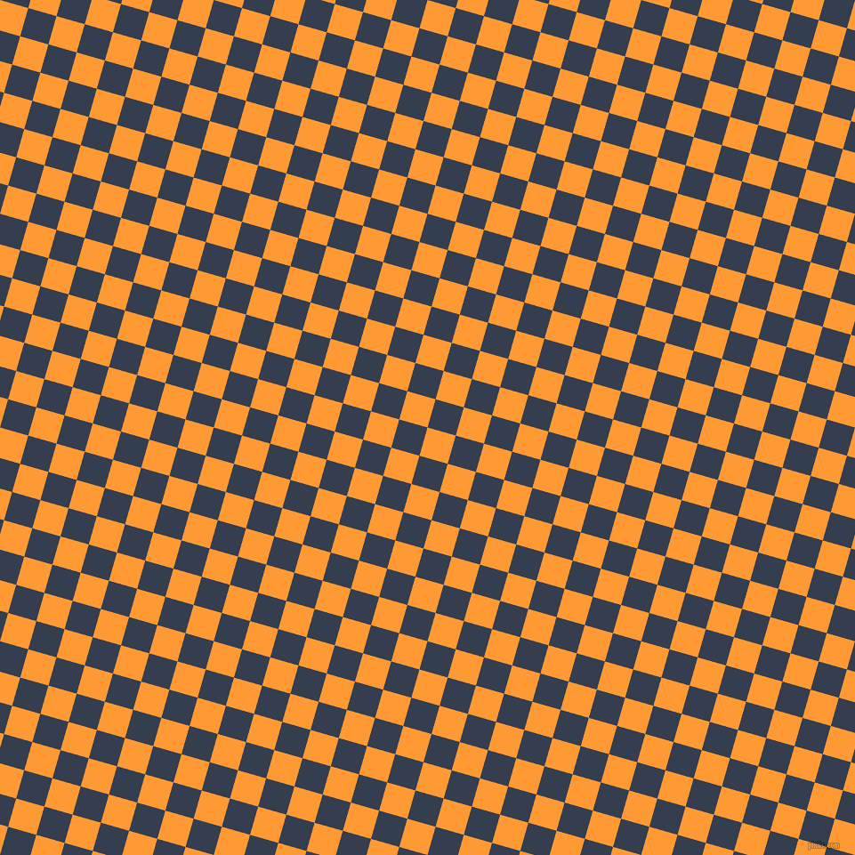 74/164 degree angle diagonal checkered chequered squares checker pattern checkers background, 33 pixel squares size, , Neon Carrot and Cloud Burst checkers chequered checkered squares seamless tileable