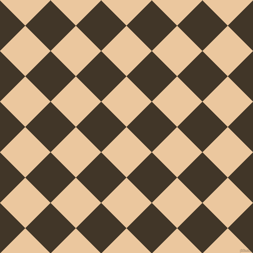 45/135 degree angle diagonal checkered chequered squares checker pattern checkers background, 118 pixel square size, , New Tan and Jacko Bean checkers chequered checkered squares seamless tileable