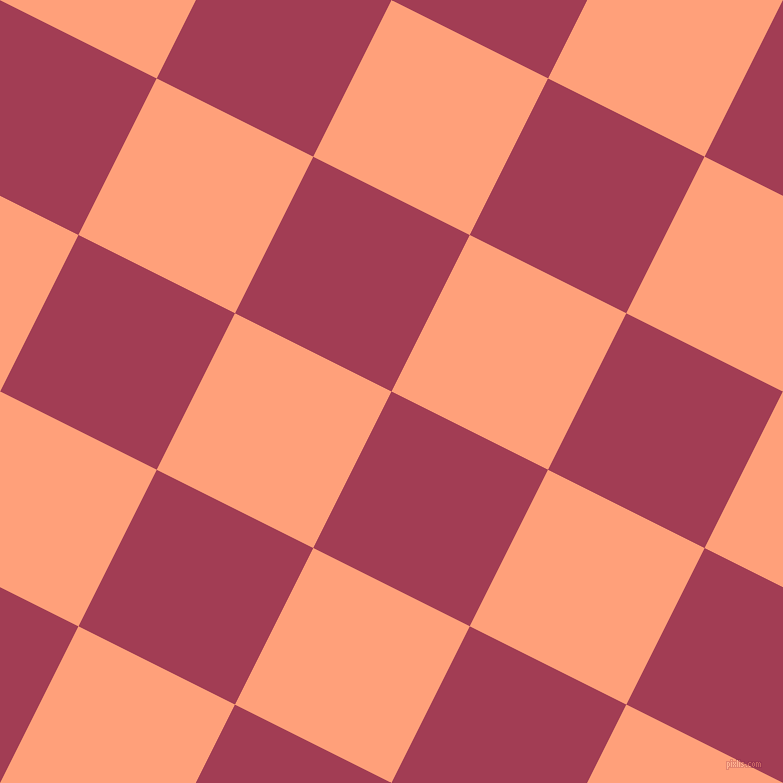 63/153 degree angle diagonal checkered chequered squares checker pattern checkers background, 175 pixel square size, , Night Shadz and Light Salmon checkers chequered checkered squares seamless tileable