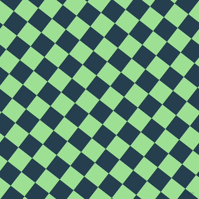 52/142 degree angle diagonal checkered chequered squares checker pattern checkers background, 58 pixel square size, , Nile Blue and Granny Smith Apple checkers chequered checkered squares seamless tileable