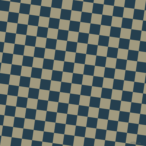82/172 degree angle diagonal checkered chequered squares checker pattern checkers background, 35 pixel squares size, , Nile Blue and Grey Olive checkers chequered checkered squares seamless tileable