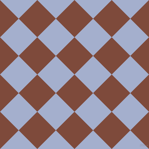 45/135 degree angle diagonal checkered chequered squares checker pattern checkers background, 112 pixel squares size, , Nutmeg and Echo Blue checkers chequered checkered squares seamless tileable