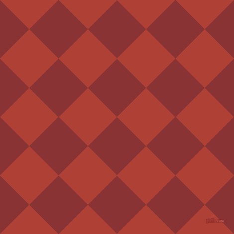 45/135 degree angle diagonal checkered chequered squares checker pattern checkers background, 83 pixel squares size, , Old Brick and Medium Carmine checkers chequered checkered squares seamless tileable