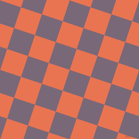 72/162 degree angle diagonal checkered chequered squares checker pattern checkers background, 71 pixel squares size, , Old Lavender and Burnt Sienna checkers chequered checkered squares seamless tileable
