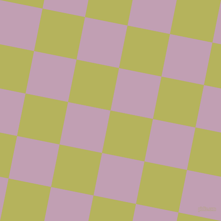 79/169 degree angle diagonal checkered chequered squares checker pattern checkers background, 87 pixel square size, Olive Green and Lily checkers chequered checkered squares seamless tileable