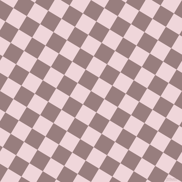 59/149 degree angle diagonal checkered chequered squares checker pattern checkers background, 51 pixel square size, , Opium and Pale Rose checkers chequered checkered squares seamless tileable