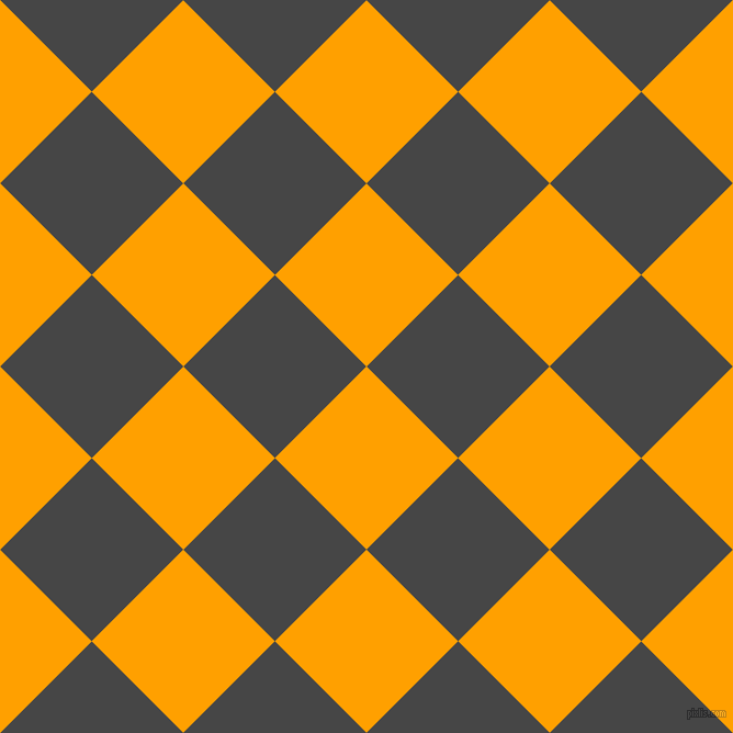 45/135 degree angle diagonal checkered chequered squares checker pattern checkers background, 118 pixel square size, , Orange Peel and Charcoal checkers chequered checkered squares seamless tileable