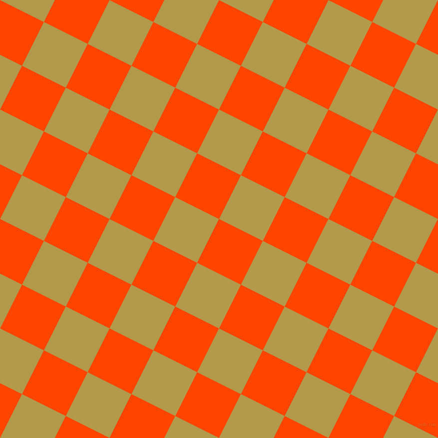 63/153 degree angle diagonal checkered chequered squares checker pattern checkers background, 98 pixel square size, , Orange Red and Husk checkers chequered checkered squares seamless tileable