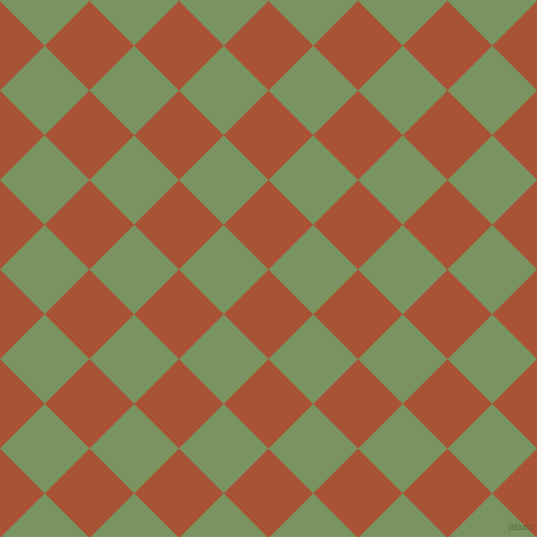 45/135 degree angle diagonal checkered chequered squares checker pattern checkers background, 89 pixel square size, , Orange Roughy and Highland checkers chequered checkered squares seamless tileable