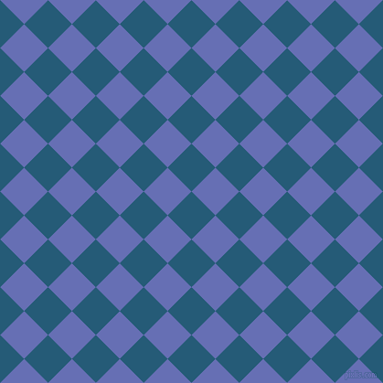 45/135 degree angle diagonal checkered chequered squares checker pattern checkers background, 37 pixel square size, , Orient and Chetwode Blue checkers chequered checkered squares seamless tileable