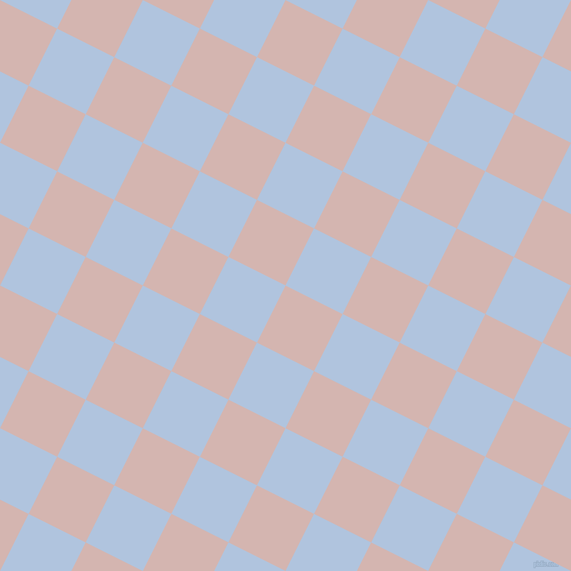 63/153 degree angle diagonal checkered chequered squares checker pattern checkers background, 92 pixel square size, , Oyster Pink and Light Steel Blue checkers chequered checkered squares seamless tileable