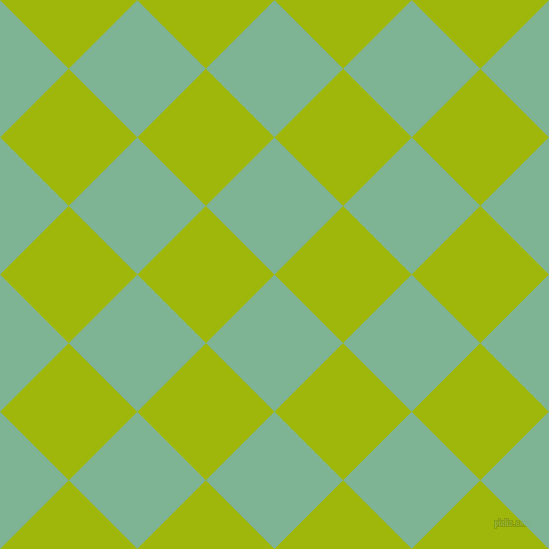 45/135 degree angle diagonal checkered chequered squares checker pattern checkers background, 97 pixel square size, , Padua and Citrus checkers chequered checkered squares seamless tileable
