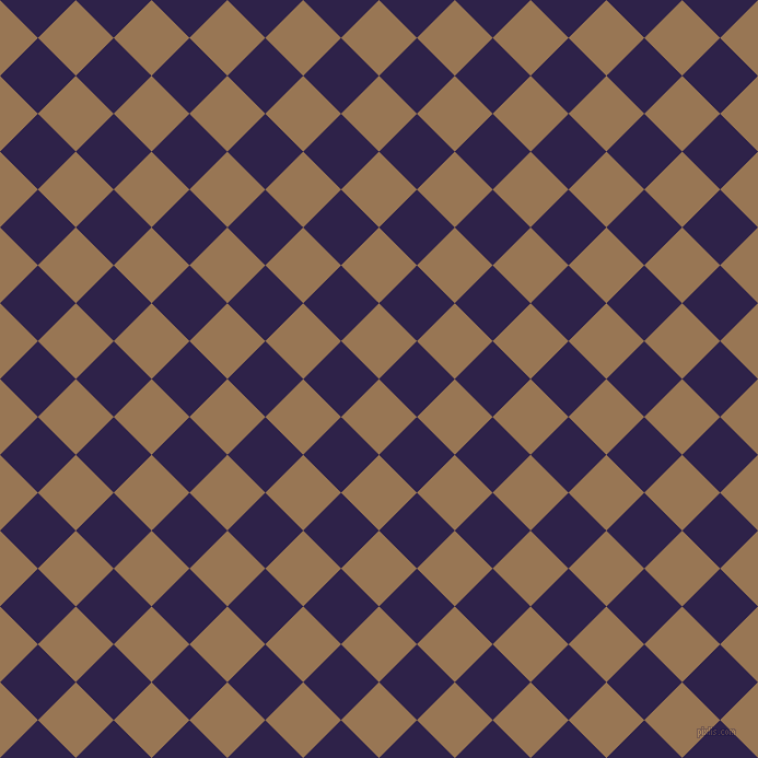 45/135 degree angle diagonal checkered chequered squares checker pattern checkers background, 49 pixel square size, , Pale Brown and Violent Violet checkers chequered checkered squares seamless tileable
