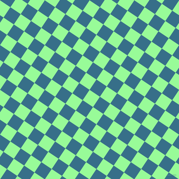 56/146 degree angle diagonal checkered chequered squares checker pattern checkers background, 50 pixel squares size, , Pale Green and Astral checkers chequered checkered squares seamless tileable