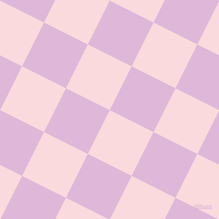 63/153 degree angle diagonal checkered chequered squares checker pattern checkers background, 98 pixel square size, , Pale Pink and French Lilac checkers chequered checkered squares seamless tileable