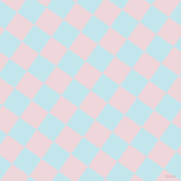 54/144 degree angle diagonal checkered chequered squares checker pattern checkers background, 73 pixel square size, , Pale Rose and Onahau checkers chequered checkered squares seamless tileable