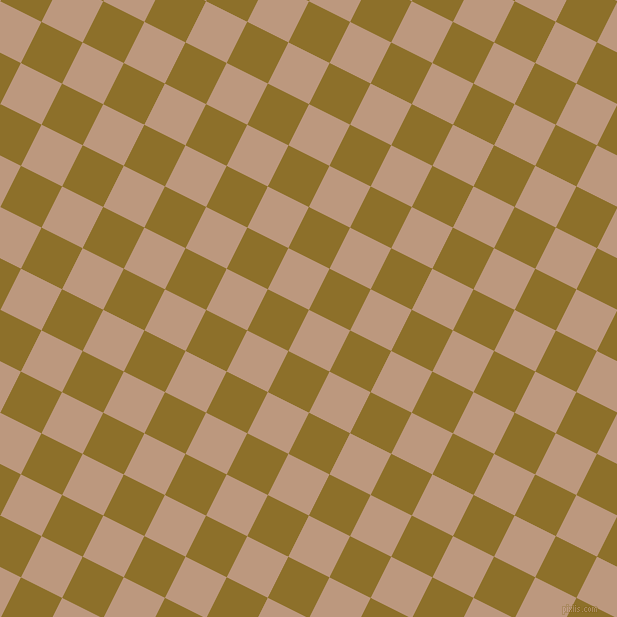 63/153 degree angle diagonal checkered chequered squares checker pattern checkers background, 46 pixel squares size, , Pale Taupe and Corn Harvest checkers chequered checkered squares seamless tileable