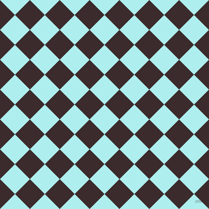 45/135 degree angle diagonal checkered chequered squares checker pattern checkers background, 72 pixel squares size, , Pale Turquoise and Havana checkers chequered checkered squares seamless tileable