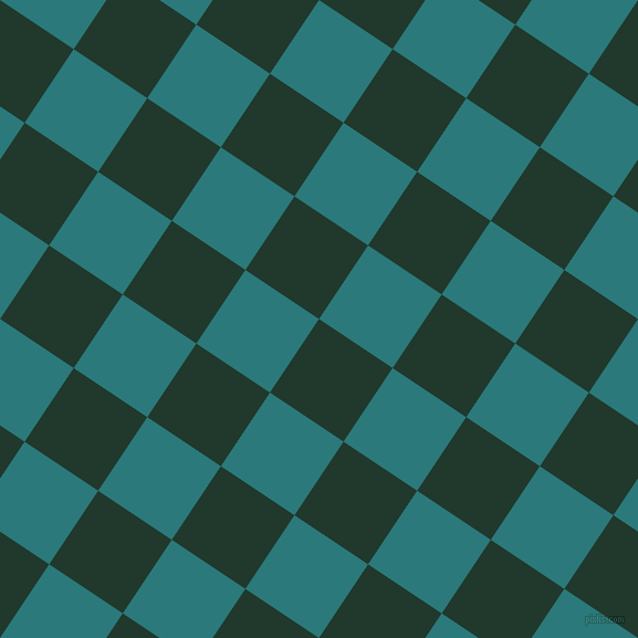 56/146 degree angle diagonal checkered chequered squares checker pattern checkers background, 80 pixel square size, , Palm Green and Atoll checkers chequered checkered squares seamless tileable