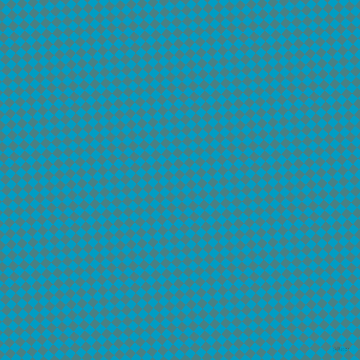 50/140 degree angle diagonal checkered chequered squares checker pattern checkers background, 15 pixel square size, Paradiso and Pacific Blue checkers chequered checkered squares seamless tileable