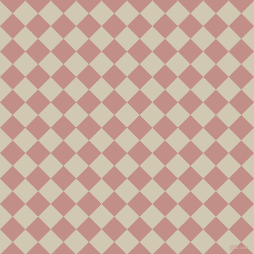 45/135 degree angle diagonal checkered chequered squares checker pattern checkers background, 36 pixel square size, , Parchment and Oriental Pink checkers chequered checkered squares seamless tileable