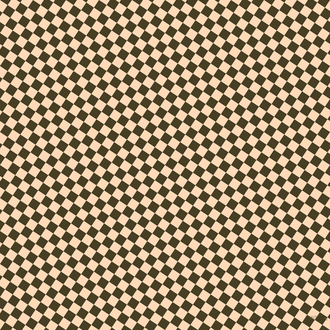 56/146 degree angle diagonal checkered chequered squares checker pattern checkers background, 18 pixel square size, , Peach Puff and Madras checkers chequered checkered squares seamless tileable