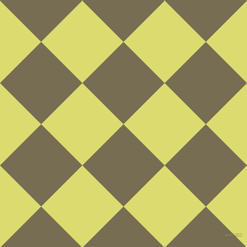 45/135 degree angle diagonal checkered chequered squares checker pattern checkers background, 120 pixel squares size, Peat and Goldenrod checkers chequered checkered squares seamless tileable
