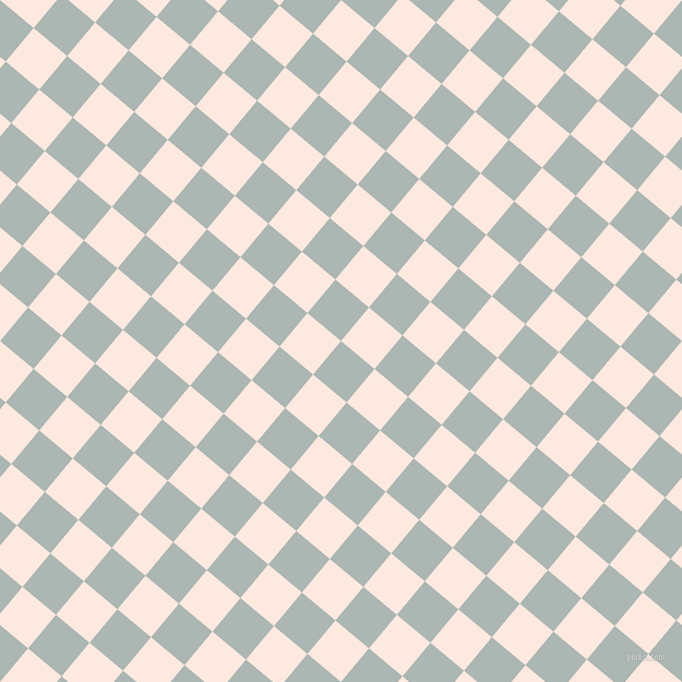 50/140 degree angle diagonal checkered chequered squares checker pattern checkers background, 40 pixel squares size, , Periglacial Blue and Chablis checkers chequered checkered squares seamless tileable