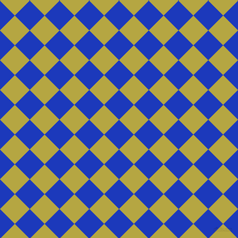 45/135 degree angle diagonal checkered chequered squares checker pattern checkers background, 42 pixel squares size, , Persian Blue and Brass checkers chequered checkered squares seamless tileable