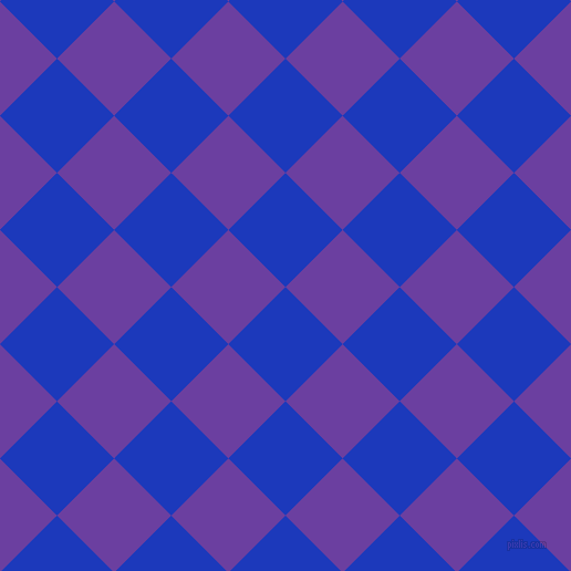 45/135 degree angle diagonal checkered chequered squares checker pattern checkers background, 73 pixel square size, , Persian Blue and Royal Purple checkers chequered checkered squares seamless tileable
